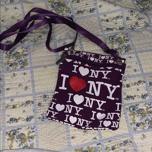 Forever 21 Canvas I love NY Crossbody Bag
